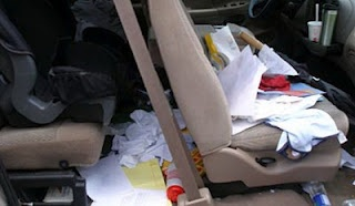 Is your car really just a big purse? Here are some tips to give it a cleaning!: Organizations Clean, Cars Organizations, Changing Coupon, Cars Clutter, Big Purses, Mr. Big, Organizations Idea, Organizations Cars, Cars Clean