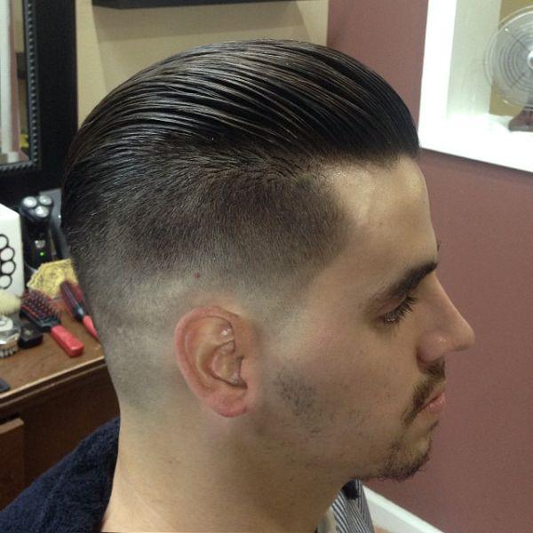 Fade back slick | Men hairstyles | Pinterest