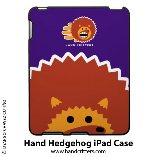Hand Hedgehog #iPad Case. Available at the Hand Critter #gift store: http://www.handcritters.com/hand-critter-ipad-cases/ #handcritters