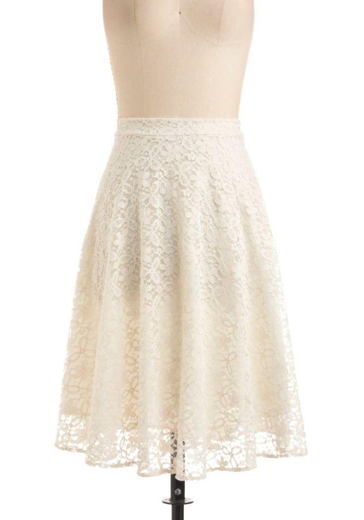 Beautiful lace skirt elegance