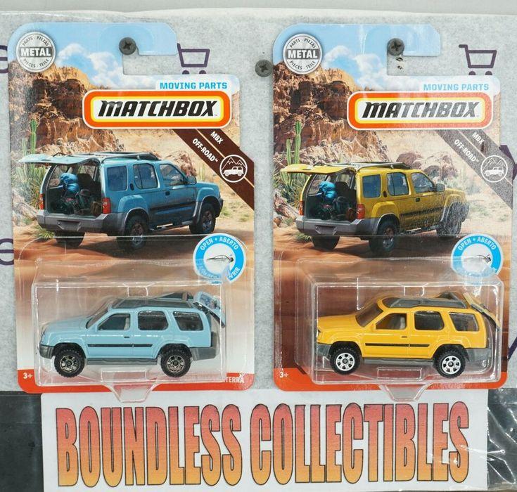Matchbox Off Road Moving Parts 2000 Nissan Xterra Yellow