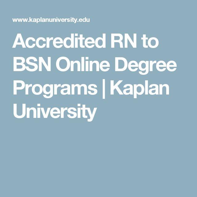 Accredited RN to BSN Online Degree Programs | Kaplan University