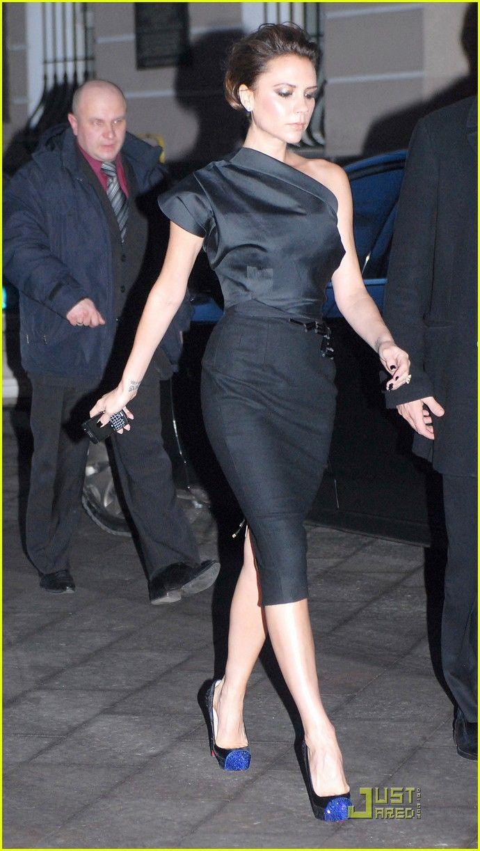 Victoria Beckham, wearing Christian Louboutin heels.