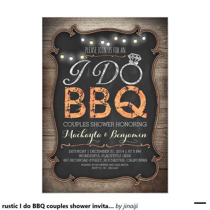 rustic I do BBQ couples shower invitation                                                                                                                                                                                 More