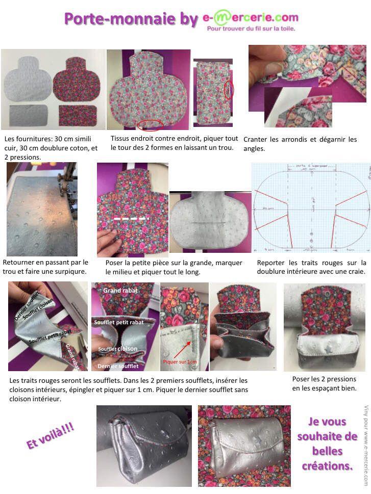 Coucou voici le Tuto d'un porte-monnaie très sympa. A bientôt. Viny.La mercerie en ligne e-mercerie c'est un large choix de tissus à la coupe, d'accessoires et d'articles de mercerie pour réaliser toutes vos idées couture, tricot, broderie ou patchw...