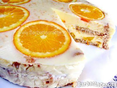 Tort de portocale cu biscuiți