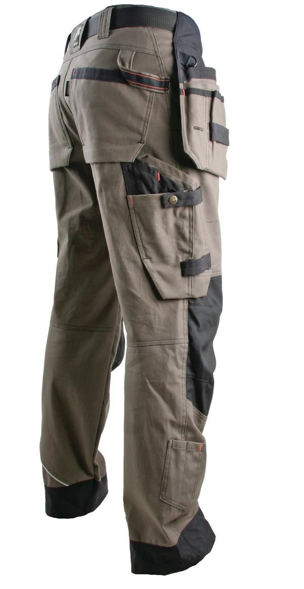 Ace Carpenter pants have an incredible number of loops, pockets, and other storage options. The Jubilee pants are similar but are made from a lighter fabric.