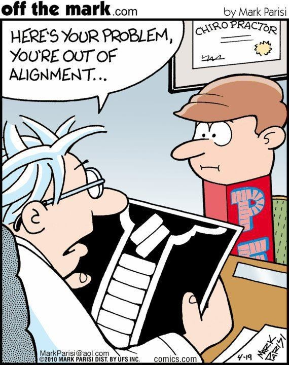 Hehehe! We can help you get back in #alignment. Call us today for your appointment.  #chiropractichumor www.swannchiropractic.com 423-893-3300
