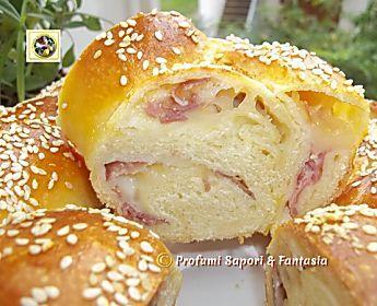 Treccia di pan brioche salata ripiena