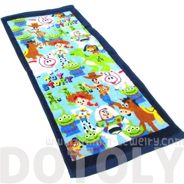 Toy Story Woody Buzz and Friends Collage Print Face Towel Handkerchief | DOTOLY