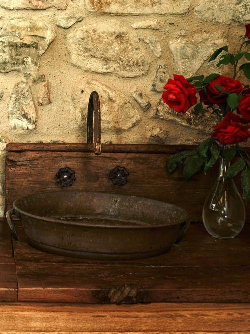 Galvanized Bathroom Sink