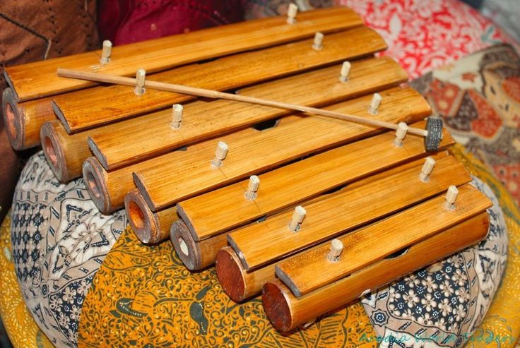 Bali BAMBOO Rindik Gamelan Xylophone~Hand Tuned ...
