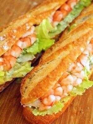 海老とアボカドディップのサンドイッチ by こぐまパンさん   レシピ ...