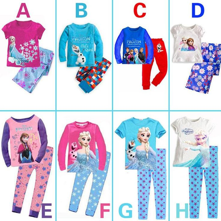 Wholesale 2014 Baby Girls Frozen Pajamas Kids Anna Elsa Olaf Princess Pajamas Children Summer And Autumn Clothes New Cotton 2Piece Set Color Random, Free shipping, $4.24/Piece | DHgate Mobile