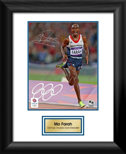 Mo Farah - London 2012 Photo, Framed Genuine Autograph - Official Olympic Item | eBay