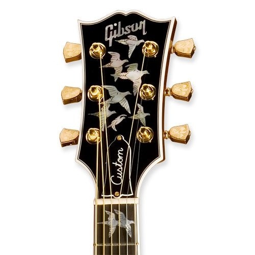 Gibson Doves in Flight Acosuic Guitar headstock. I want it!