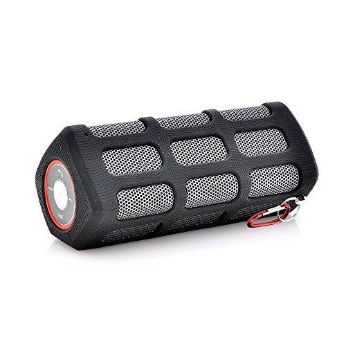 Deals week  Outdoor Bluetooth Speaker Astand Portable Waterproof Stereo Bass Wireless Speaker with 7000mAh Power Bank - Black Best Selling