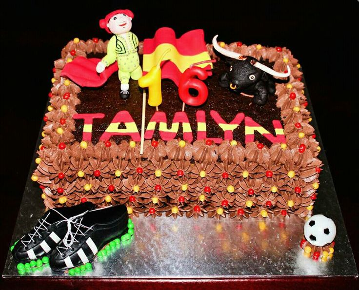 Spanish Matador and Bull cake. For Tamlyn birthday during the soccer world cup 2010
