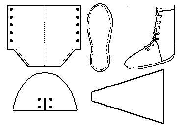 Bottines médiévales lacées devant