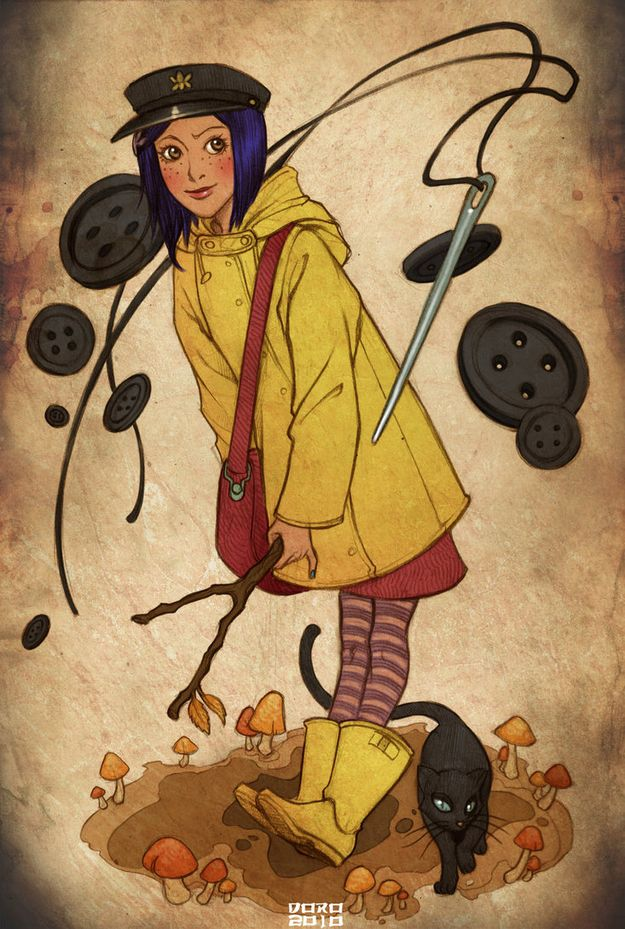 Fanart: Coraline all grown up... LOVE! I might just want to be her for Halloween! Not that many people would get it at WSU...