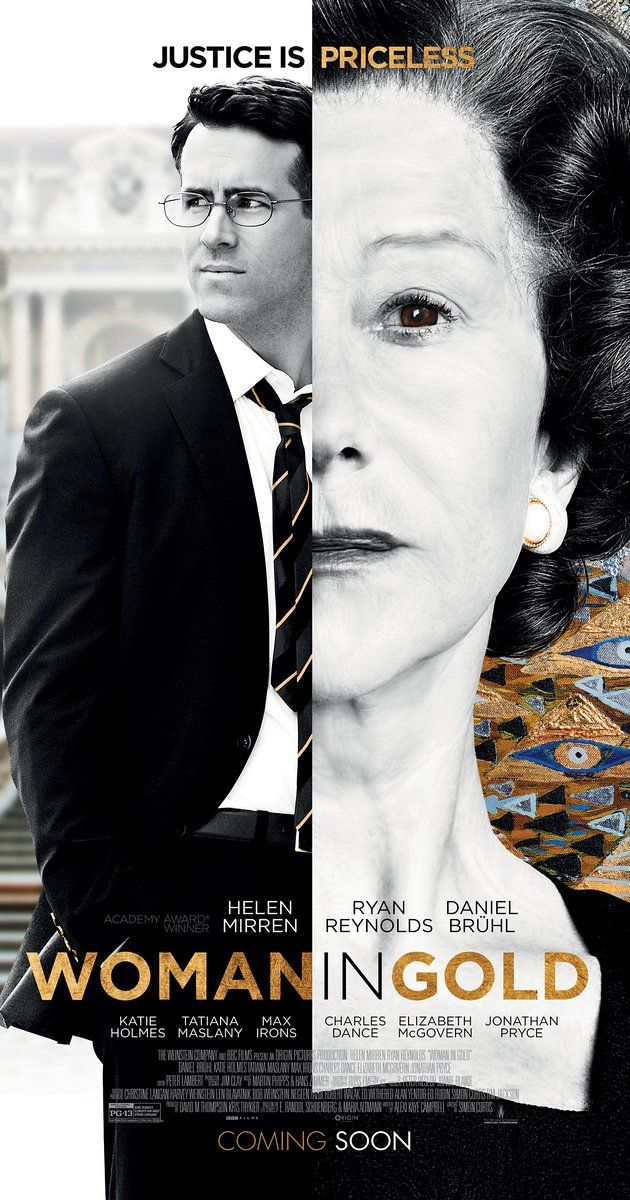 Directed by Simon Curtis. With Helen Mirren, Ryan Reynolds, Daniel Brühl, Katie Holmes. Maria Altmann, an octogenarian Jewish refugee, takes on the Austrian government to recover artwork she believes rightfully belongs to her family.