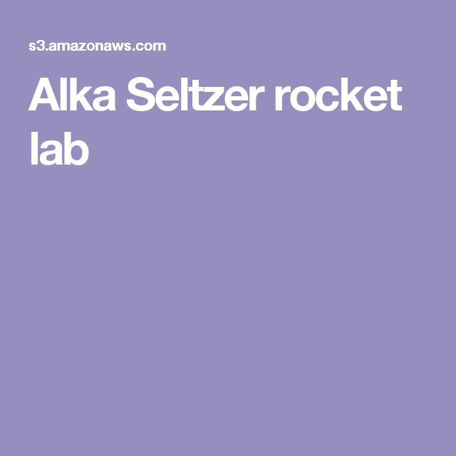 how to make an alka seltzer rocket