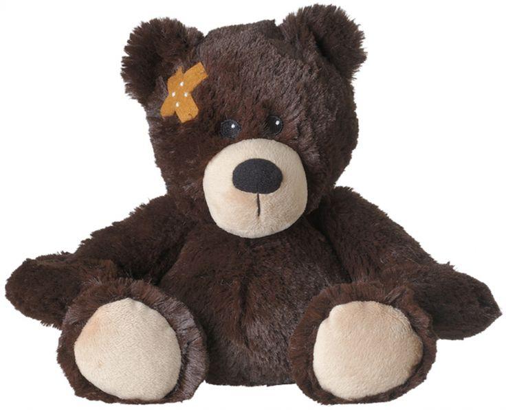 Warmte knuffel beer bruin  Magnetron knuffel beer met pleister. Super zachte magnetron knuffel in de vorm van een bruine beer met een pleister op zijn oor. Na 90 seconden in de magnetron schenkt deze knuffel u voor een lange tijd warmte en de heerlijke geur van lavendel. De pleister beer is ongeveer 29 cm groot.  EUR 19.95  Meer informatie