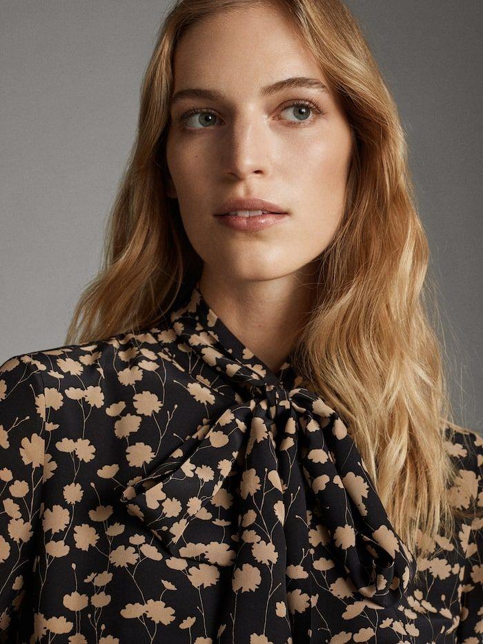 Floral Print Black Dress Women Massimo Dutti Pret A Porter