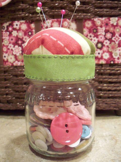La vie de Jennifer Aube: Baby Food Pin Jar Coussin Tutorial (Repurposed Jar Baby Food - Partie 1)