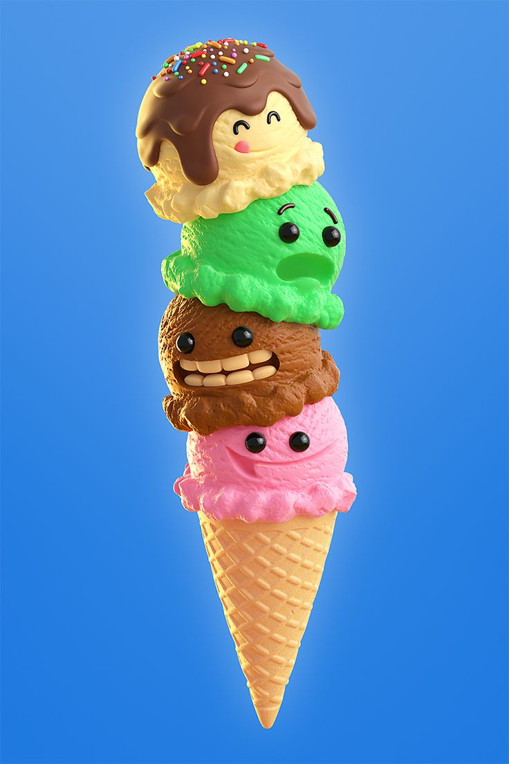 I wanted to make some CGI ice cream, so came up with this little image :)