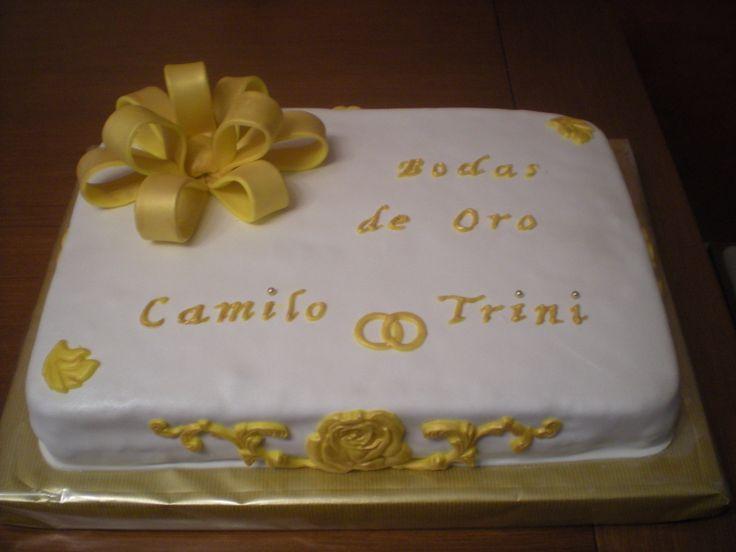 Tarta para celebrar las Bodas de Oro de Camilo y Trini!    Enhorabuena y... a por las Bodas de Diamante!!
