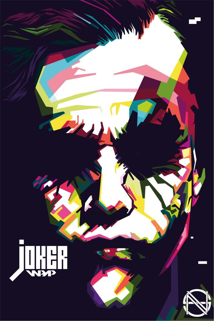 Joker in WPAP art of Indonesia