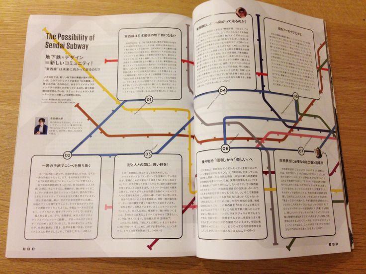 地下鉄路線図グラフィック | グラフィック制作 / WIRED