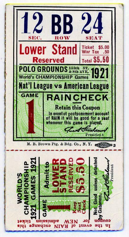First Yankee World's Series game