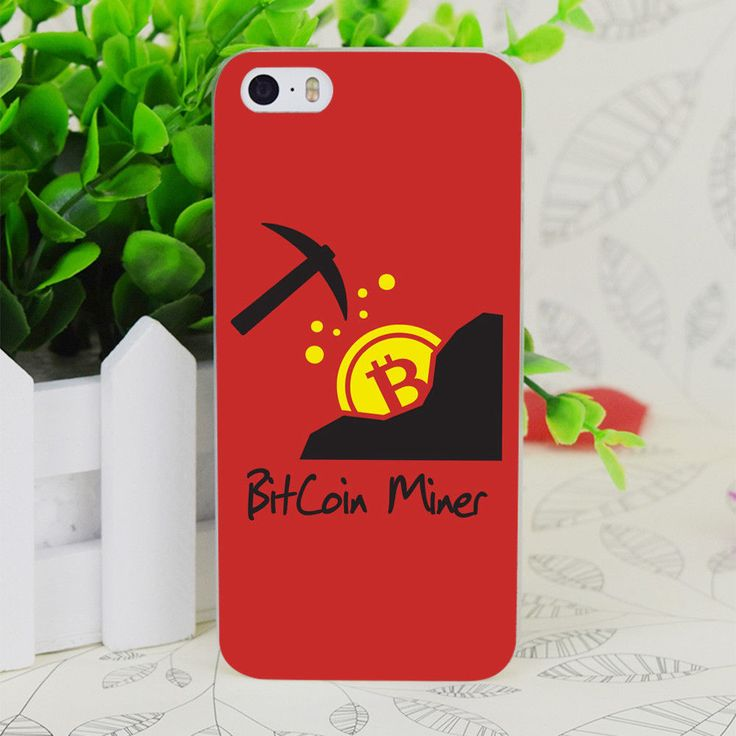 IPhone Skin Cover Bitcoin Miner Transparent Hard Thin Case For Apple IPhone