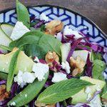 Green and Purple Summery Salad