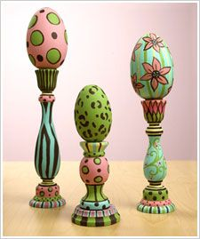 Egg Tabletop Trio-ok, those candleholders sitting arround forever will be on the table next Easter.
