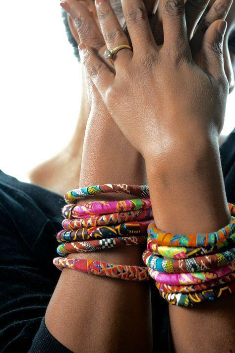 fabric covered bangle bracelets