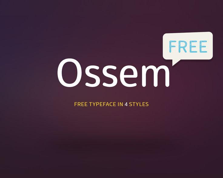 Fresh Free Font Of The Day : Ossem (awarded)