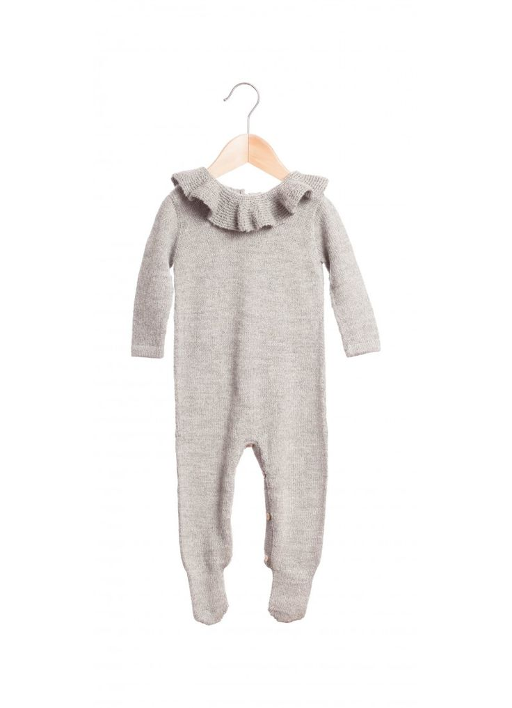 Pierrot All-in-One / Gray : Fawn Shoppe - Global Boutique For Unique Children's Designs
