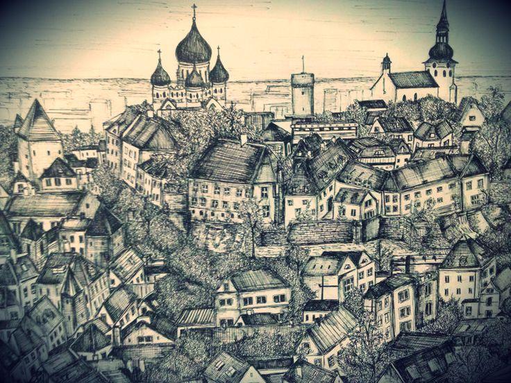 City Sketch- Tallinn, Estonia