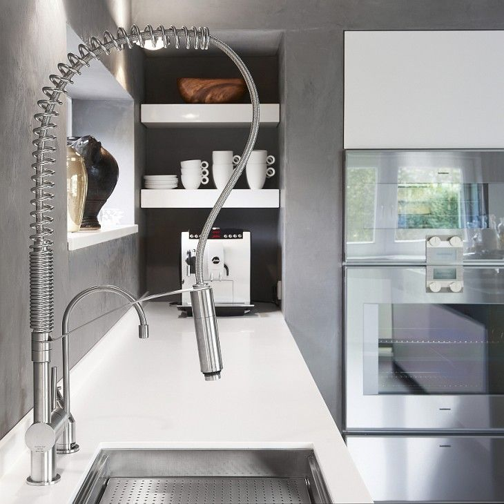 Convenient Stainless Steel Kitchen Faucet With A Dual Spray Outlet - pictures, photos, images