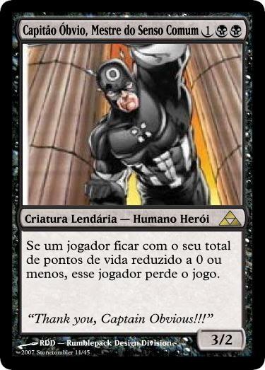 Capitão Óbvio!