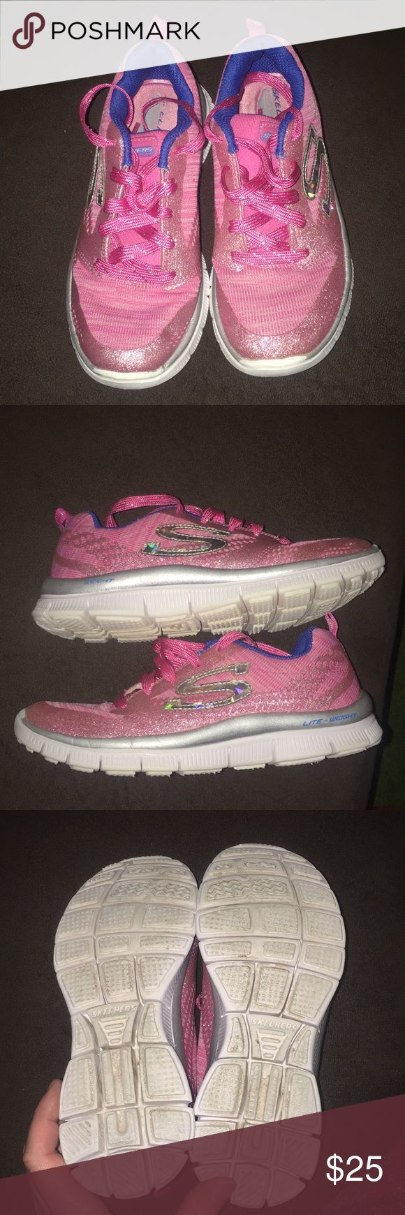 Sketcher sneakers Little girl size 2 sketcher sneakers only worn once. Excellent condition. My daughter wanted sketchers but she wanted sketcher air and refused to wear these. sketchers Shoes Sneakers