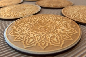 Soo beautiful hand-carbed wooden coasters