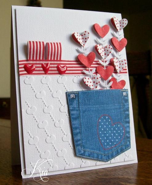 Pocket of Hearts WT501 by kiagc - Cards and Paper Crafts at Splitcoaststampers