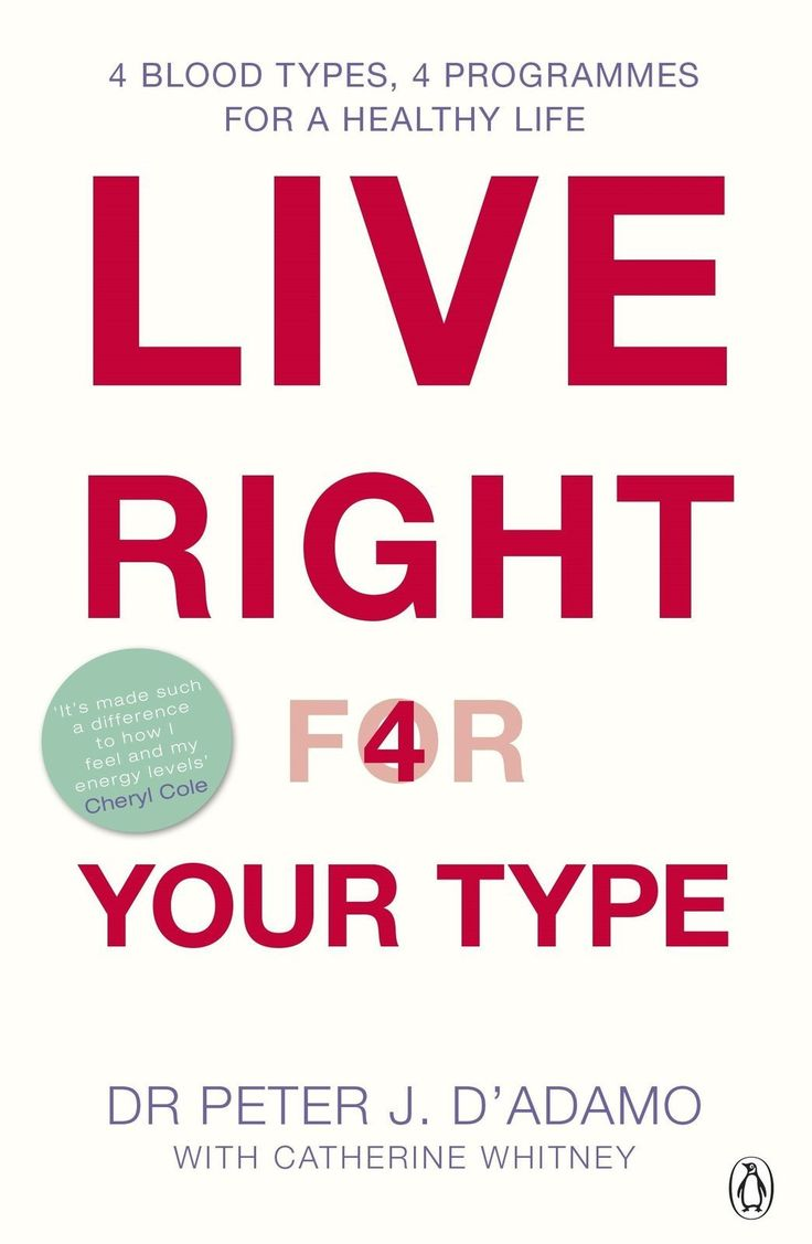 Live Right for Your Type [Paperback] [Jul 03, 2002] Peter D'Adamo]