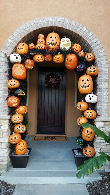 inspired by pumpkins love how my pumpkin archway turned out happy halloween - Miniature Halloween Decorations