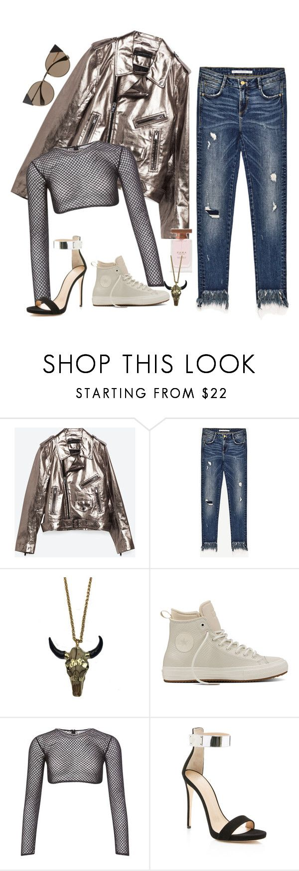 """""""Don't You See"""" by chelsofly ❤ liked on Polyvore featuring Piel Leather, Zara Taylor, Converse, PA5H, Giuseppe Zanotti and Fendi"""