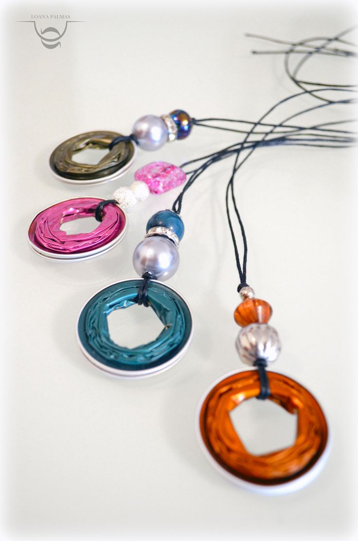 Pendants made whit coffee capsules